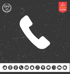 telephone handset symbol telephone receiver icon vector image vector image