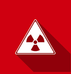 Triangle sign with a radiation symbol flat icon vector