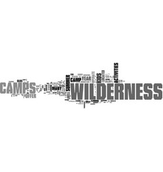 What to know about wilderness camps text word vector