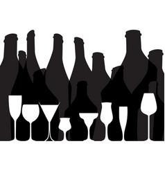 Wine list placard black vector