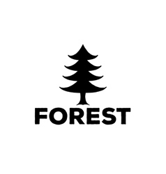 Logo or emblem of a black fir-tree vector