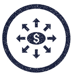 Mass cashout rounded grainy icon vector