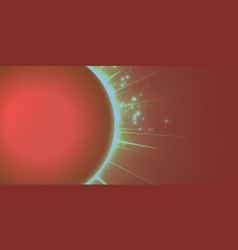 Abstract red background with planet vector