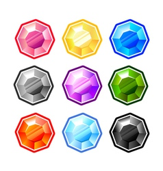 Colourful Round Diamonds vector image