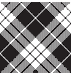 Macleod tartan plaid diagonal seamless pattern vector