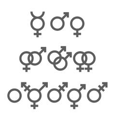 Gender symbols pack vector
