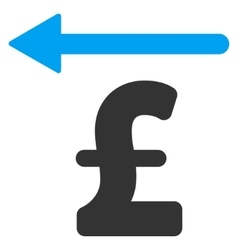 Pound moneyback flat icon symbol vector