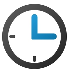 Clock gradient icon vector