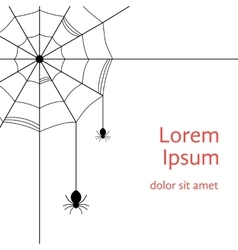 Black cobweb with spiders vector