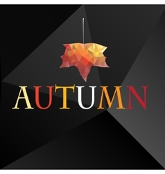 Autumn background with maple leaf vector