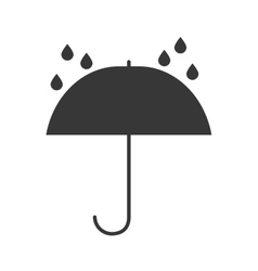 Umbrella with drops icon rain design vector