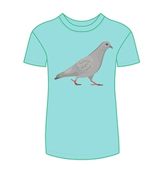 Going gray pigeon t-shirt vector