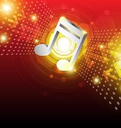 digital music background design vector image