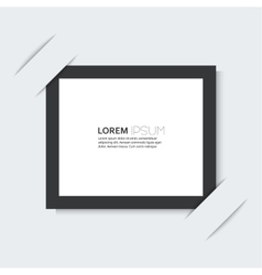 Black frame with a simple design of the background vector image vector image
