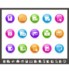 Book Icons Rainbow Series vector image vector image