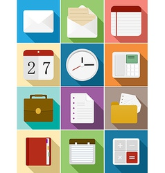 Business flat icons set design vector image vector image