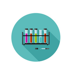 chemical laboratory icon vector image