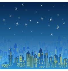 City urban design Night landscape vector image vector image