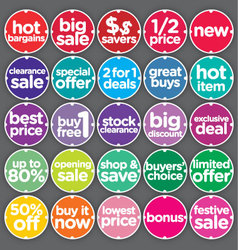 Complete set sales promotion labels vector