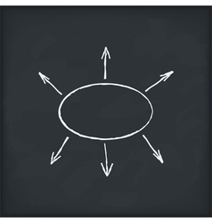 diagram on blackboard vector image vector image