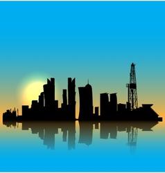 Doha silhouette skyline vector image vector image