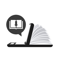 ebook technology vector image