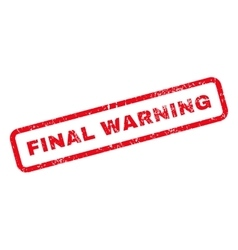 Final Warning Text Rubber Stamp vector image vector image