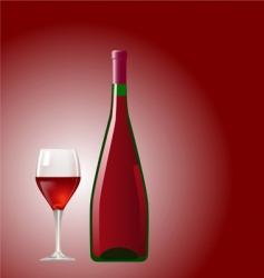 glass and bottle vector image vector image