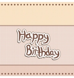 greeting card greetings happy birthday vector image