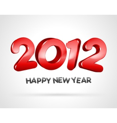happy new year 2012 3d message background vector image vector image