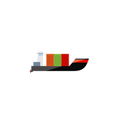 isolated cargo flat icon tanker element vector image vector image