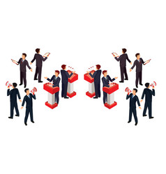 isometric people businessman vector image vector image