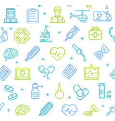 Medicine symbols and signs pattern background on a vector
