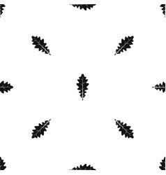 Oak leaf pattern seamless black vector