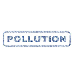 Pollution textile stamp vector