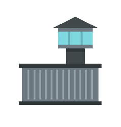 prison tower icon flat style vector image