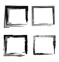 Set abstract picture frames vector