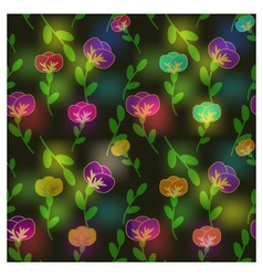 Shiny flowers vector image vector image