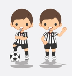 soccer referee vector image vector image