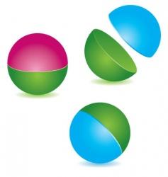 sphere icon vector image vector image