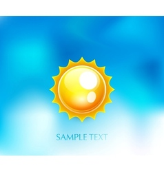 Sun on blue sky background vector image