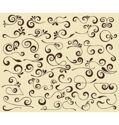 swirls set vector image