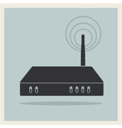 Wi-Fi Router on Retro Background vector image vector image