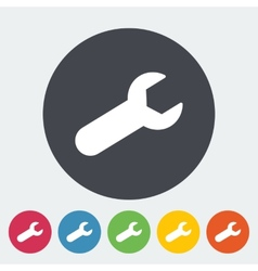 Wrench single flat icon vector
