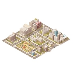 Isometric low poly city vector