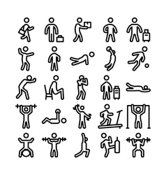 Pictograms Icons 2 vector image