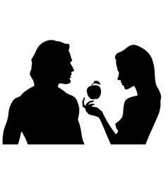 silhouettes of beautiful man and woman vector image