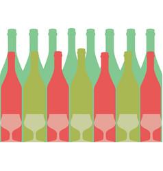 Wine list placard vector