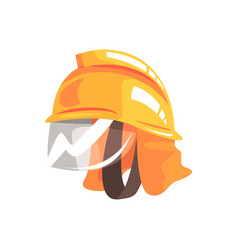 orange safety helmet for fireman vector image