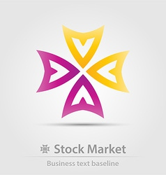 Stock market business icon vector
